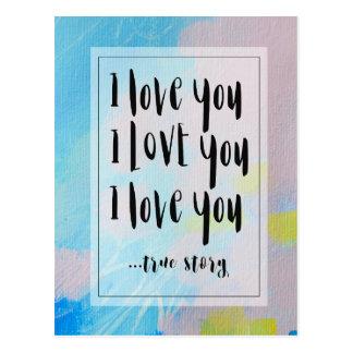 Jag älskar dig vykortet med original- konst vykort