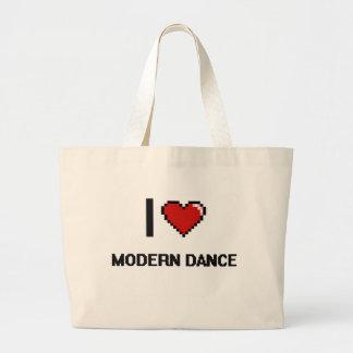 Jag älskar Digital för den moderna dansen den Jumbo Tygkasse