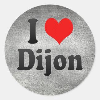 Jag älskar Dijon, frankrike. J'Ai L'Amour Dijon, Runt Klistermärke