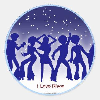 Jag älskar disko runt klistermärke