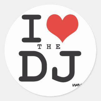 Jag älskar DJEN Runt Klistermärke