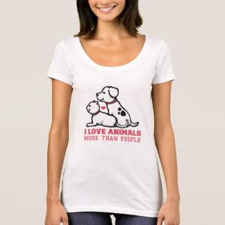 jag älskar djur mer än bemannar t-shirts