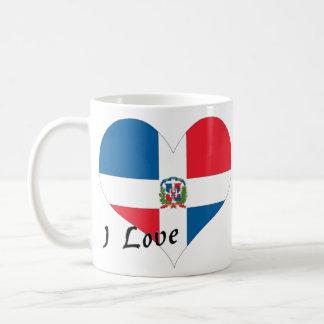 Jag älskar Dominikanska republiken Kaffemugg