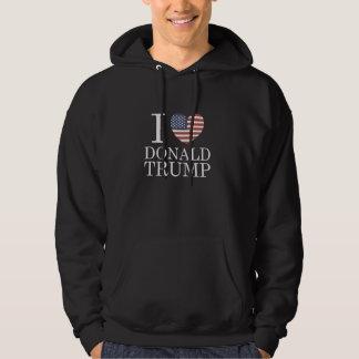 Jag älskar Donald Trump Sweatshirt Med Luva