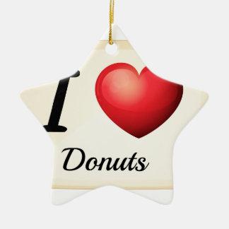 Jag älskar donuts julgransprydnad keramik