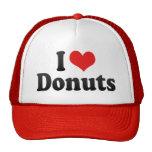 Jag älskar Donuts Trucker Kepsar