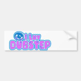 Jag älskar DUBSTEP-klistermärken Bildekal