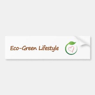 Jag älskar Eco-Grönt bildekal
