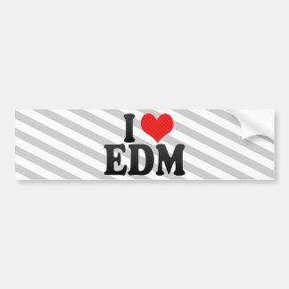Jag älskar EDM Bildekal