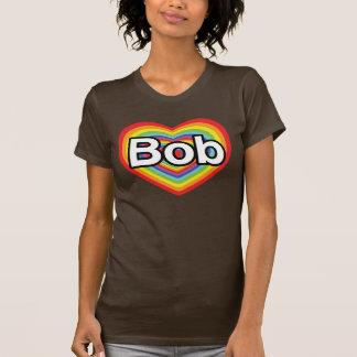 Jag älskar egennamn: regnbågehjärta t shirts