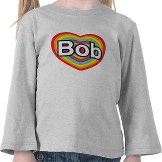 Jag älskar egennamn: regnbågehjärta t-shirt