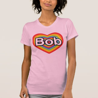 Jag älskar egennamn: regnbågehjärta t-shirts