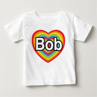 Jag älskar egennamn: regnbågehjärta tee shirts