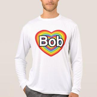 Jag älskar egennamn: regnbågehjärta t shirt