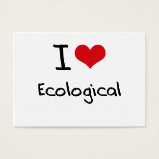 Jag älskar ekologiskt visitkort