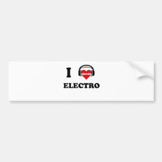 Jag älskar electroen bildekal