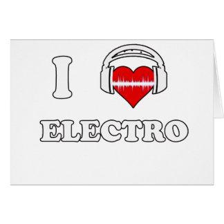 Jag älskar electroen kort