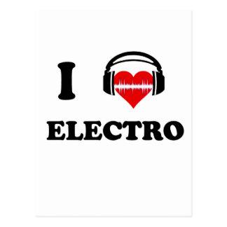 Jag älskar electroen vykort