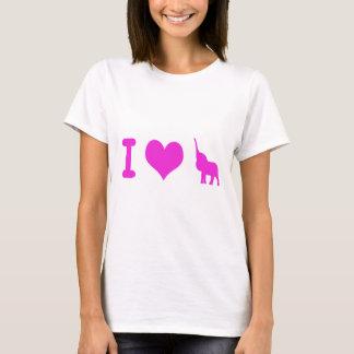 Jag älskar elefanter tee shirt