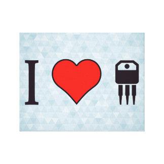 Jag älskar elektroniska transistorer canvastryck