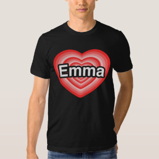 Jag älskar Emma. Jag älskar dig Emma. Hjärta Tee Shirts