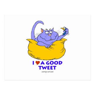 Jag älskar en bra Tweet Vykort
