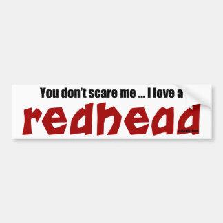 Jag älskar en rödhårig bildekal
