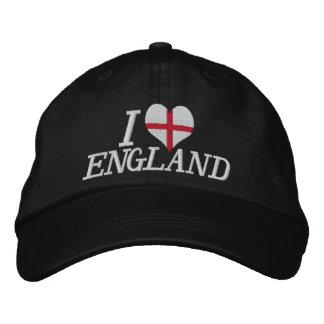 Jag älskar England Broderade Baseball Kepsar