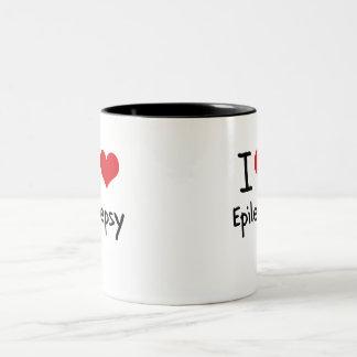 Jag älskar epilepsi Två-Tonad mugg