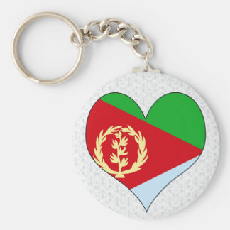 Jag älskar Eritrea Rund Nyckelring