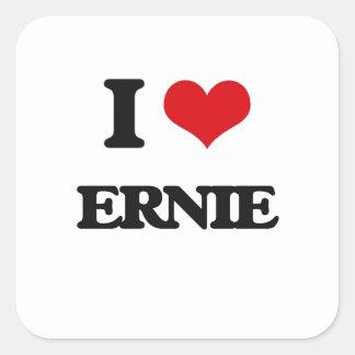 Jag älskar Ernie Fyrkantigt Klistermärke