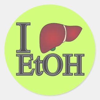 Jag älskar Ethanol Runt Klistermärke