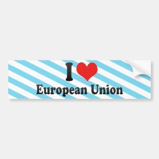 Jag älskar Europeiska union Bildekal