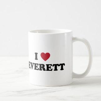 Jag älskar Everett Washington Kaffemugg