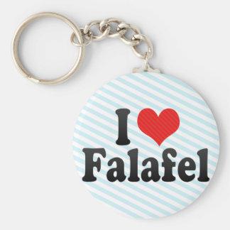 Jag älskar falafelen rund nyckelring