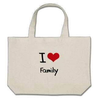 Jag älskar familjen tote bags