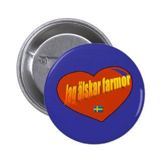Jag Alskar Farmor Standard Knapp Rund 5.7 Cm