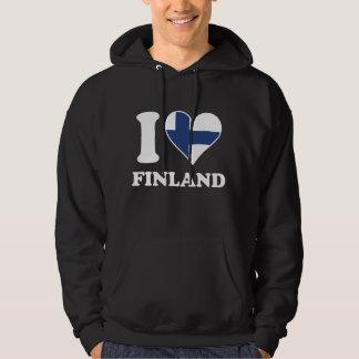 Jag älskar Finland finlandssvensk flaggahjärta Sweatshirt