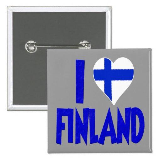 Jag älskar Finland Knappar