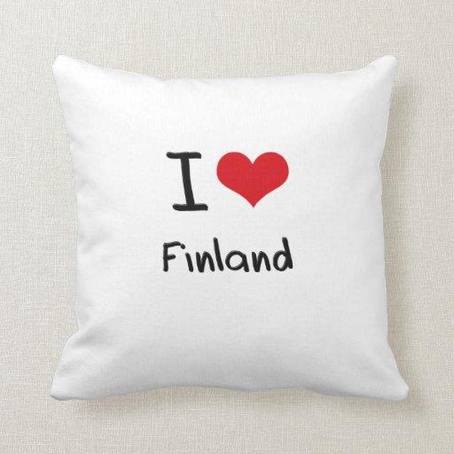 Jag älskar Finland Prydnadskuddar