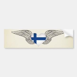 Jag älskar Finland - vingar Bildekal