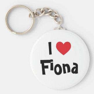 Jag älskar Fiona Keychain Rund Nyckelring