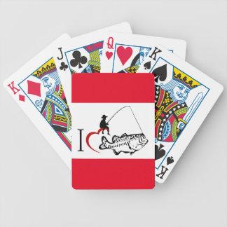 Jag älskar fiske som leker kort spelkort