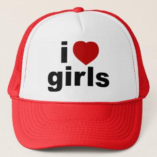 Jag älskar flickahatten truckerkeps