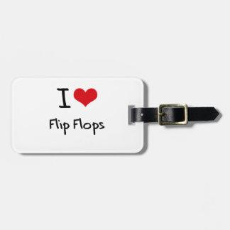 Jag älskar flinflip flops bagagebricka