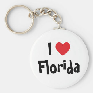 Jag älskar Florida Rund Nyckelring