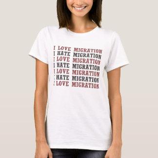 Jag älskar flyttning som jag hatar flyttning etc. tröjor