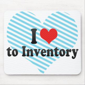 Jag älskar för att inventory musmatta