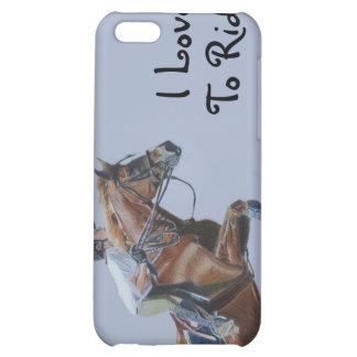 Jag älskar för att rida! 4/4S iPhone 5C Mobil Skal