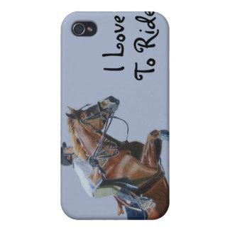 Jag älskar för att rida! 4/4S iPhone 4 Cover